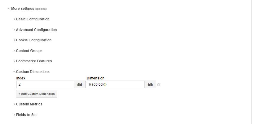 Индекс и дименшн в теге Google Analytics