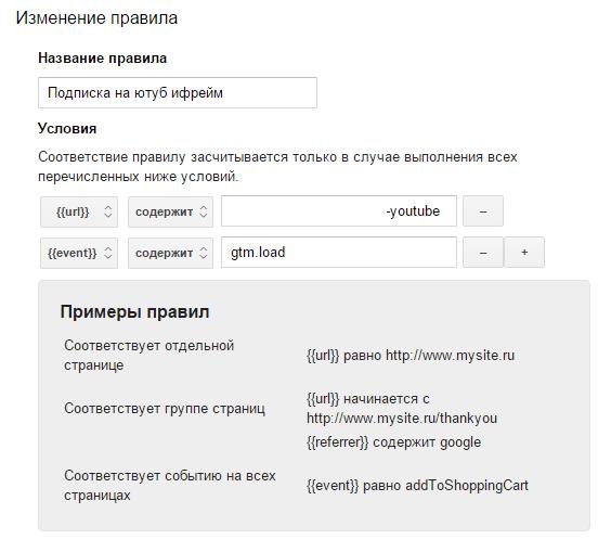 Павило для тега отслеживания кликов по Iframe через Google Tag Manager